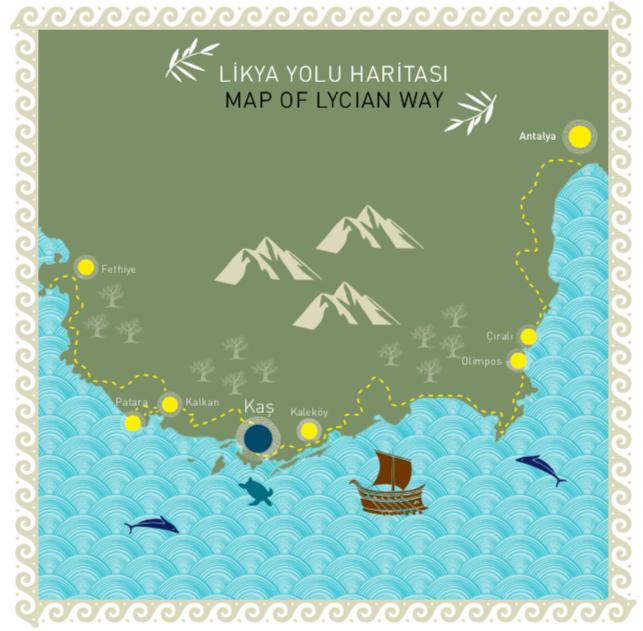 likya yolu haritası